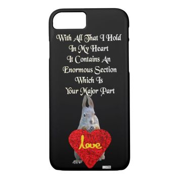 Heart Just Because Love Greeting by Kat Worth iPhone 7 Case