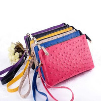 OMG OMG FAUX OSTRICH LEATHER PURSES