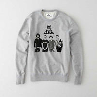 Fall Out Boy FOB sweatshirt gray for Mens and Girls