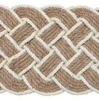 "J & M Home Fashions Lovers Knot Coco Doormat, 22 by 36"", Beige"