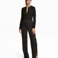 Pants with Snap Fasteners - from H&M