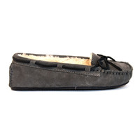 Minnetonka Cally - Grey Suede Pile-Lined Moccasin