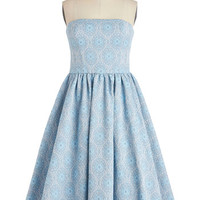 ModCloth Long Strapless Fit & Flare No Small FC*te Dress