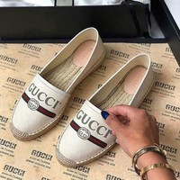 gucci Cloth fisherman shoes