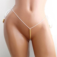 POLE DANCE BIKINI Extreme Micro G-string Bordeau Bikini Itty Bitty Fetish Hawaii Pole Dance