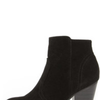 Heydays Black Suede Ankle Boots