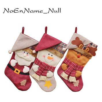Gift For New Year 2017 Christmas Decor Party Decorations Santa Claus Christmas stocking Candy Socks Christmas Gifts Bag For Home