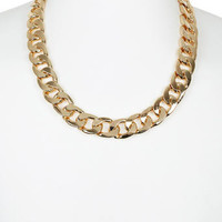 Chunky Gold Look Chain Necklace - Mens Jewelry  - Shoes and Accessories