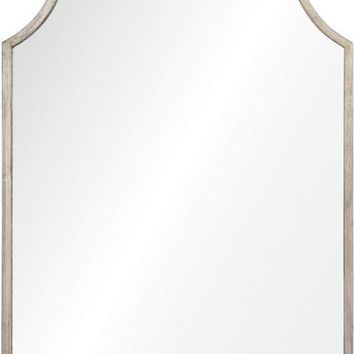Quick Overview:Antiqued Silver Leaf Iron Mirror