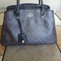 COACH Small Margot Carryall Signature Canvas with Matching Zippy Wallet