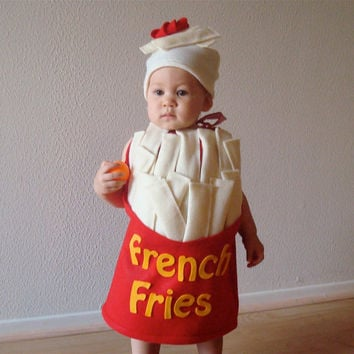 French Fry Baby or Toddler Costume by NotTheKitchenSink on Etsy