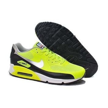 Men s Women s Nike Air Max 90 American Flag Shoes Black Green