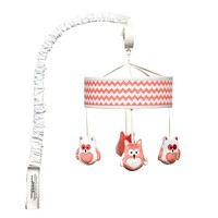 Trend Lab Chevron Owl Musical Mobile (Pink)