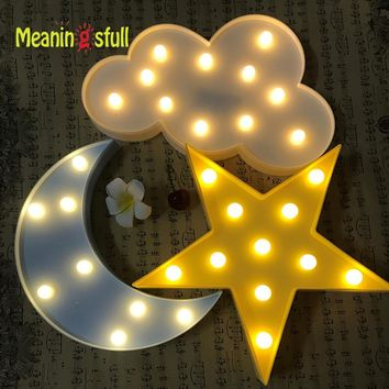 Led Night Light Marquee Sign Lamps Home Decor Gift Child's Room