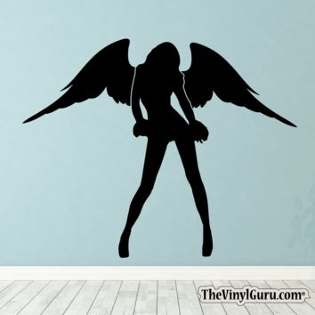 Sexy Angel Pin-Up Girl Wall Decal XV