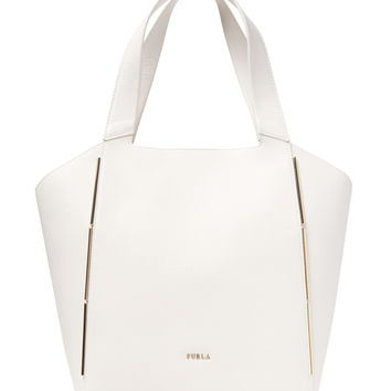 Furla Women's Audrey Medium North/South Tote - White