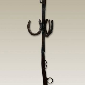 Antique Horseshoe Coat Rack