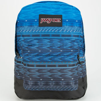 Jansport Black Label Superbreak Backpack Blue Digi Stripe Fade One Size For Men 25284024901