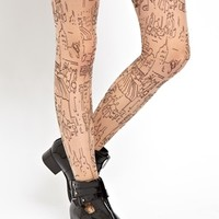 ASOS Cityscape Tattoo Tights