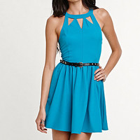 Kendall & Kylie Belted Cutout Skater Dress at PacSun.com
