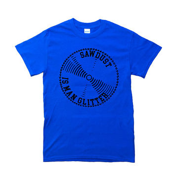 Carpenter Shirt - Royal Blue - Sawdust Is Man Glitter T-Shirt - Men Shirt - Gifts For Men - Wood Working - Construction - Men's Clothing