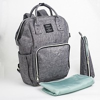 Fashion baby care diaper bag multifunctional Diaper Bags large capacity mother maternity backpack infant nappy changing bag