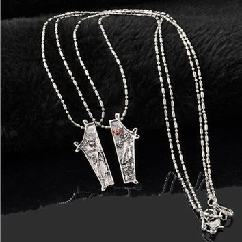 #Deals     1 Pair Nightmare Before Christmas Alloy Eternal Love Jewelry Couple Necklace Night