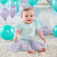 Baby Aspen BA16111GN My First Birthday 3 Piece Party Outfit with Tutu 12 18 mos