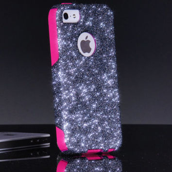 Otterbox iPhone 5/5S 6 Case Custom Smoke Glitter Commuter Series Sparkly iPhone 5/5S 6 Otterbox Cover