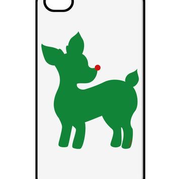 Cute Red and Green Rudolph - Christmas iPhone 4 / 4S Case  by TooLoud
