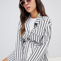 7X Cat Eye Sunglasses In Clear Frame at asos.com