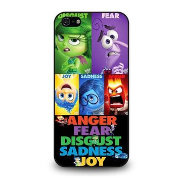 inside out all character disney iphone 5 5s se case cover  number 1