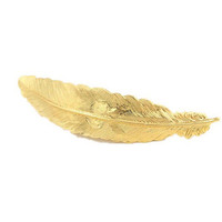 Gold Feather Hair Clip, 24K Gold Plated Hair Clip, Gold Hair Pin, Feather Hair Clip, Gold Hair, Wedding Hair Clip, Bridesmaids Gifts for Her