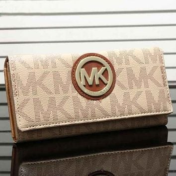 Perfect MK Women Leather Zipper Wallet Purse
