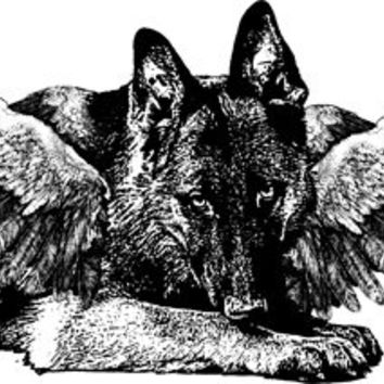 Angel dog german shepard png clip art Digital Image Download animals pet dogs printable art graphics