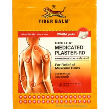 Tiger Balm Medicated Plasters Pain Relief LARGE WARM 10x14cm
