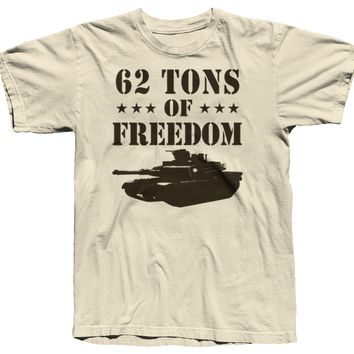 """62 Tons of Freedom"" M1A1 Abrams T-Shirt"