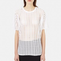 T by Alexander Wang Perforated Short-Sleeve Tee - WOMEN - JUST IN - T by Alexander Wang