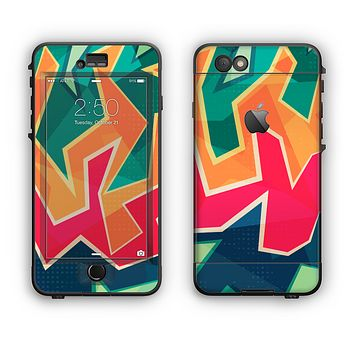 The Colorful WIld Abstract Color Pattern Apple iPhone 6 LifeProof Nuud Case Skin Set