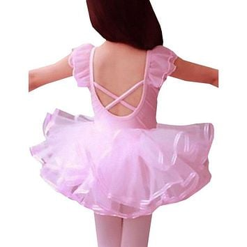 2016 Lace Ballet Dance Dress For Girls Kids Party Ballet Tutu dress Children Ballerina Dancewear Princess Ballet Costumes S2