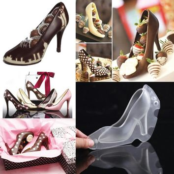 High Heel 3D Polycarbonate Chocolate Mold Shoes