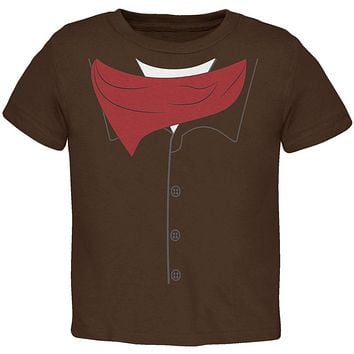 Halloween Cowboy Gunslinger Costume Toddler T Shirt