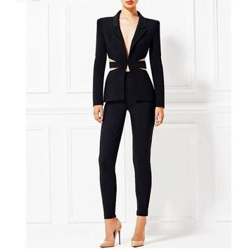 Black Mamba Pants Suit