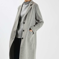 Wool Butted Seam Coat | Topshop