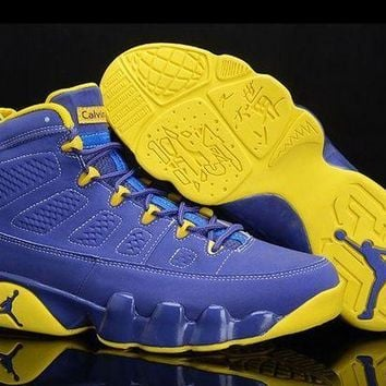 PEAPVX Jacklish Buy New Air Jordan 9 Calvin Bailey Deep Royal/university Gold-white Online
