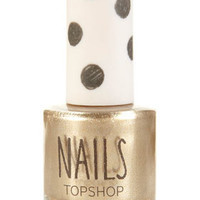 Metallic Nails in Heart of Gold - Back In Stock  - New In