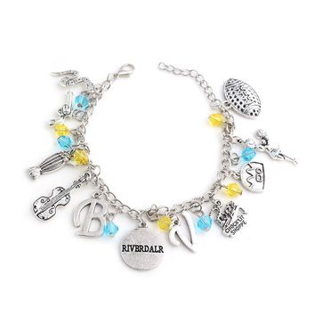 "Fashion jewelry TV Riverdale Bracelet Hamilton Broadway Musical ""Rise up"" beads letter guitar gun snake Combination Pendant"