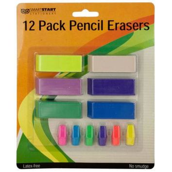 Colored Pencil Erasers Set ( Case of 20 )