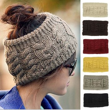 Women Ladies Knitted Winter Warm Ski Hat Crochet Slouch Beanie Cap HATBD0014