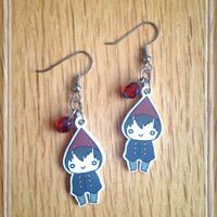 Over the Garden Wall Chibi Wirt Dangle Earrings